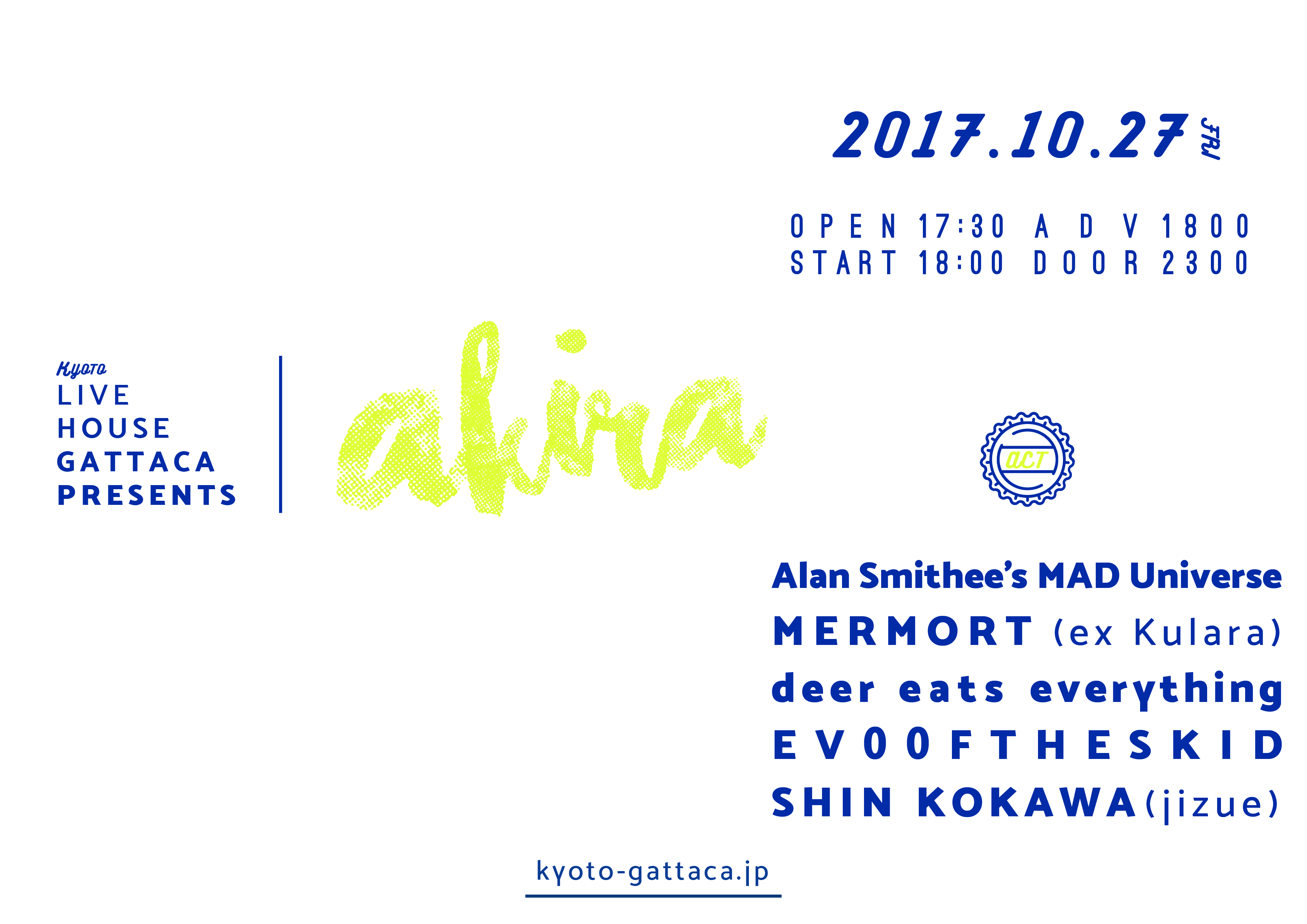 Alan Smithee's MAD Universe 2017.10.07 CLUB SONIC